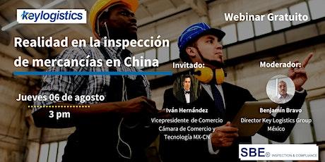 Webinar: Realidad en la inspección de mercancías en China tickets
