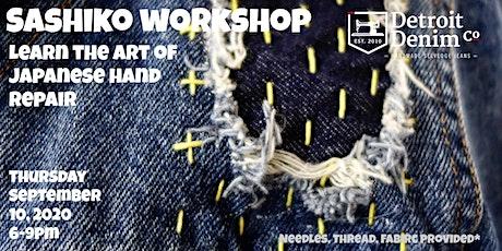 Sashiko Denim Repair + Mending Workshop. tickets