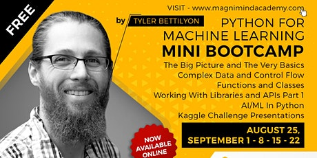 Free - Online - Live 10 Hours Python for Machine Learning Bootcamp tickets