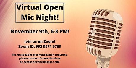 Virtual Open Mic Night tickets