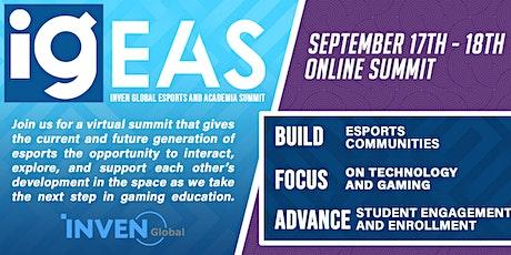 Inven Global Esports & Academia Summit (IGEAS) Online 2020 tickets