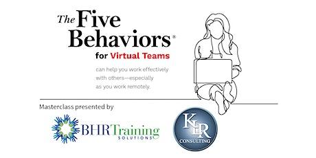 Masterclass: 5 Behaviors that Unlock Innovative Virtual Teamwork entradas