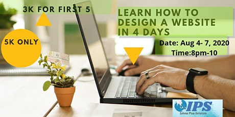 Learn how to design a website in 4days tickets