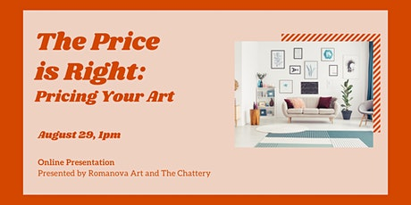 The Price is Right: Pricing Your Art - ONLINE CLASS tickets