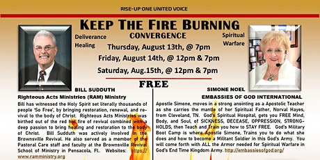 KEEP THE FIRE BURNING Convergence, Bill Sudduth tickets