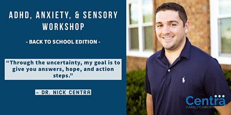 ADHD, Anxiety,  & Sensory Workshop - Back to School tickets