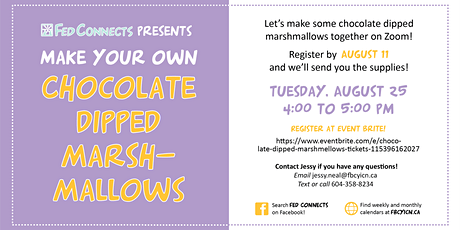 Chocolate Dipped Marshmellows tickets