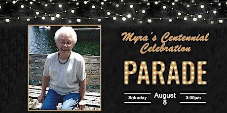 2020 Myra Clodius's Centennial Celebration - Car Parade tickets