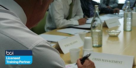 BCI Incident Response & Crisis Management Training Course - Live Online tickets