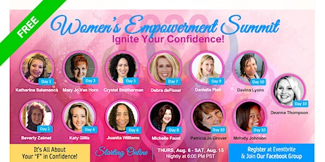 """Women's Empowerment Summit 2020 - """"Ignite Your Confidence"""" tickets"""