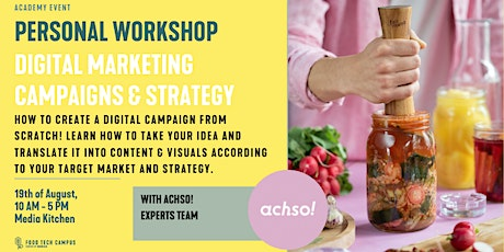 Personal Workshop Digital Marketing Campaigns & Strategy tickets