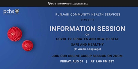 COVID-19 Information Session: Stay Safe and Healthy (in Arabic Language) tickets