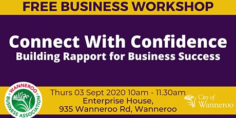 Free Business Workshop - Connect With Confidence tickets