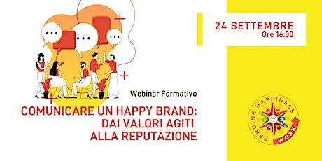#IWHAW2020 Comunicare un Happy Brand: dai valori agiti alla reputazione biglietti