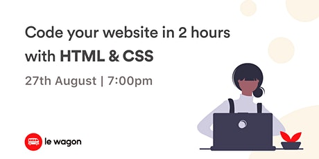 Learn to code your first website with HTML & CSS! tickets