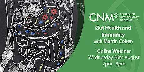CNM Online Health Talk - Gut Health and Immunity with Martin Cohen- IE tickets