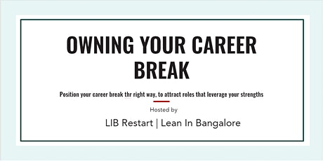 Owning your Career Break tickets