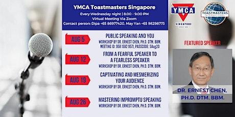 Public Speaking Workshops in August tickets