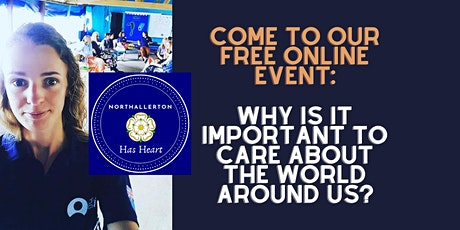 Why is it important to care about the world around us? tickets