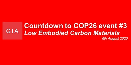 Countdown to COP #3: Low Embodied Carbon Materials tickets