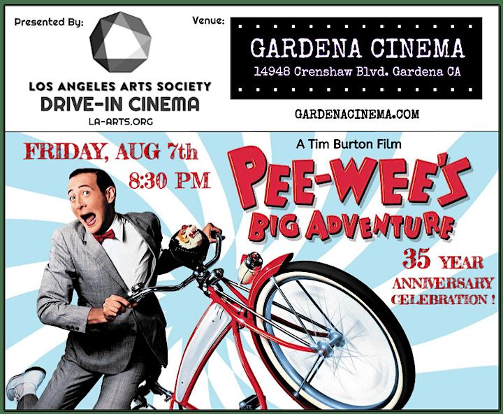 Pee-Wee's Big Adventure: Drive-In Cinema (Friday) image