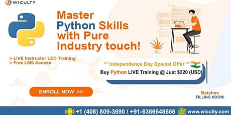 Python Certification Training   Instructor-Led   Pure Hands-On @ Just $220 tickets