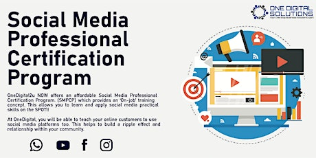Professional Social Media Marketing Program tickets