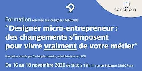 Formation pour designer micro-entrepreneur : des changements s'imposent ! tickets
