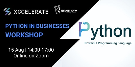 Brain Gym Series : Python in businesses Workshop | Xccelerate tickets