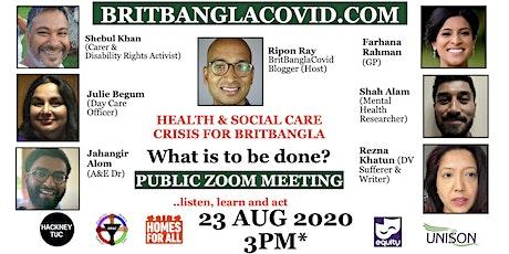 Health & Social Care Crisis for BritBangla tickets