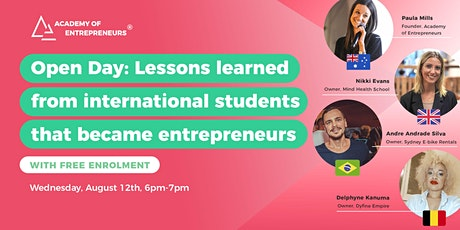Open Day: Lessons learned from international students turned entrepreneurs tickets