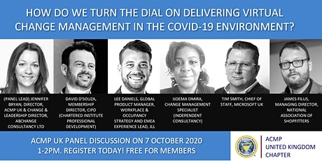 How do we turn the dial in delivering virtual change management with Covid? tickets