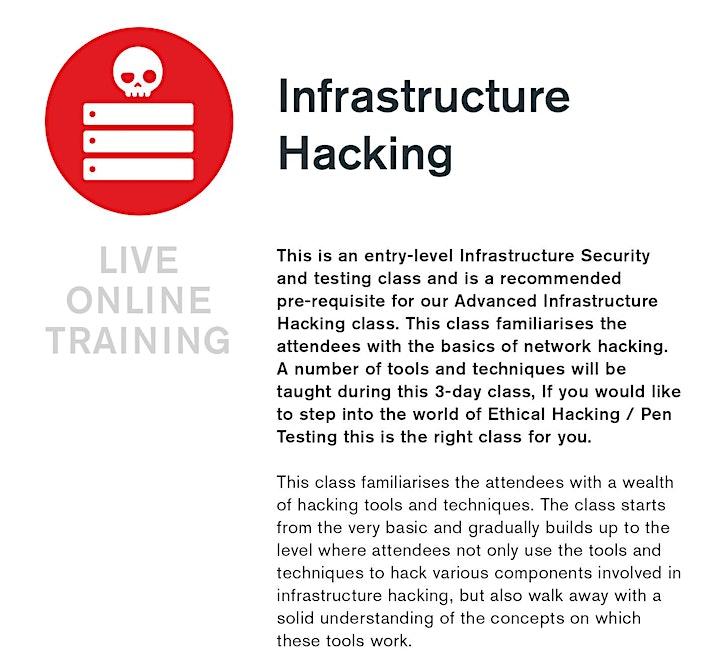Infrastructure Hacking - Live Online Training image