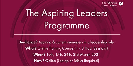 The Aspiring Leaders Programme - Online Course tickets