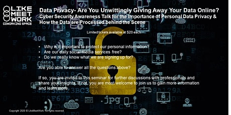 Data Privacy - Are You Unwittingly Giving Away Your Data Online? tickets