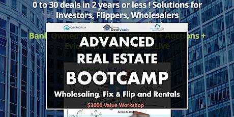 WEBINAR: Advanced Real Estate BOOTCAMP tickets