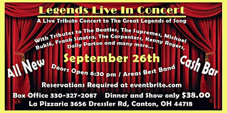 Legends Live In Concert tickets