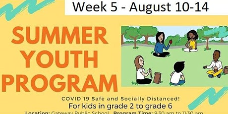 Parkwood Gardens In-Person Summer Day Program! Week 5! tickets