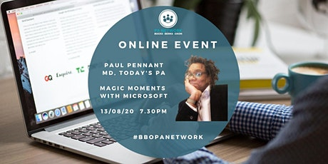 BBO PA Network -13/08/2020 - PAul Pennant - Magic Moments with Microsoft tickets