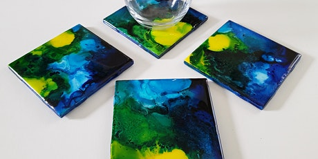 Alcohol ink coasters Workshop In Person tickets