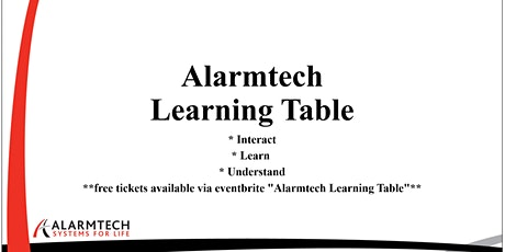 Alarmtech Learning Table - CPTED Commercial tickets
