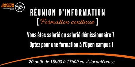 """Réunion d'information """"Formation Continue"""" - Spécial salariés d'entreprise billets"""