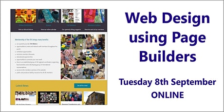 Web Design using Page Builders – 8th September, online tickets