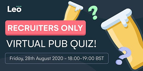 Recruiters Only Virtual Pub Quiz! tickets