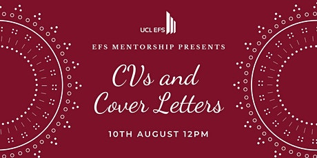 Application Prep Workshop Series - Event 3:  CV / Cover Letters tickets