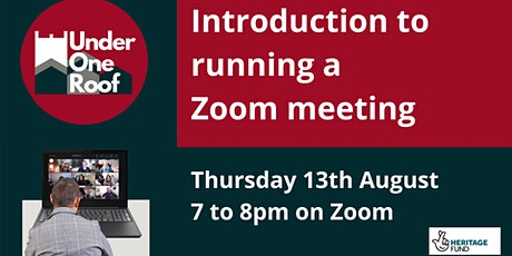 Introduction to running Zoom meetings tickets