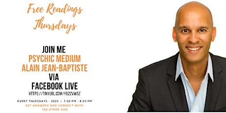 Free Reading Thursday's With Psychic Medium Alain Jean-Baptiste tickets