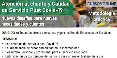 Taller: Atención al cliente y Calidad de Servicio post Covid-19 26 /8-27/8 entradas