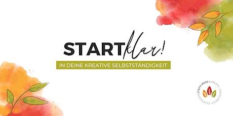 Start klar! in deine kreative Selbstständigkeit. Tickets
