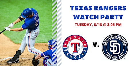 Rangers v. Padres I Free Watch Party tickets